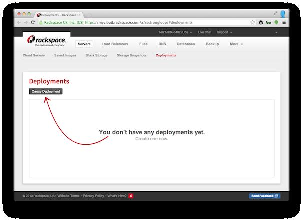 Rackspace-create-deployment