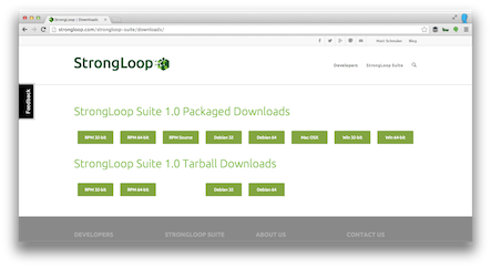 StrongLoop-Web-Downloads