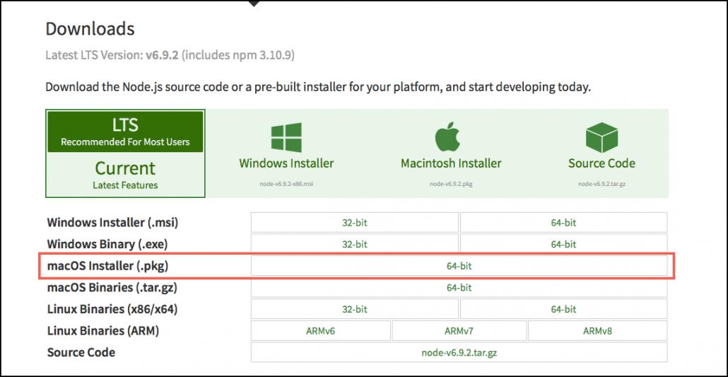 Installer Screen