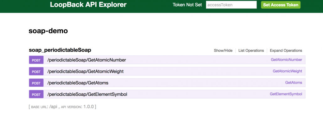 Building Enterprise APIs for SOAP Web Services using LoopBack - LoopBack API Explorer