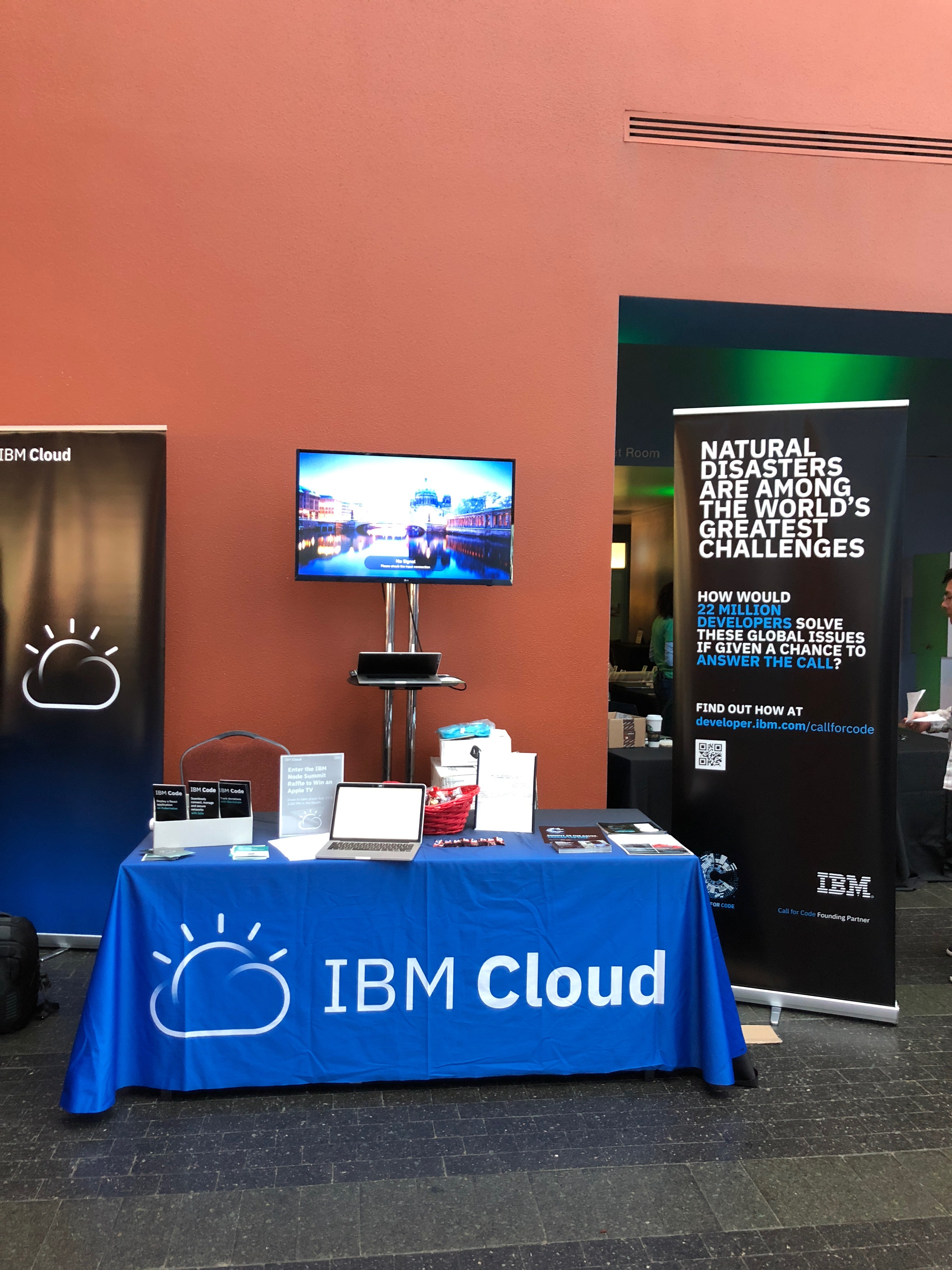 IBM Booth at NodeSummit 2018